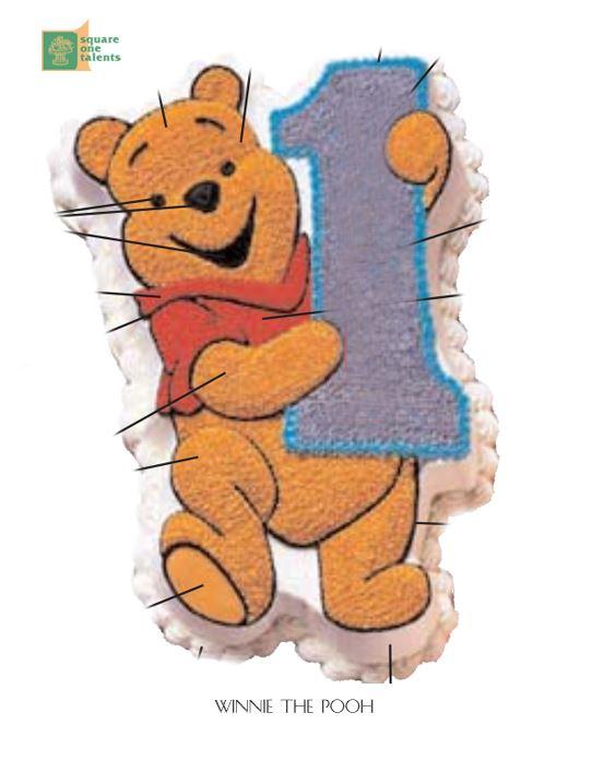 Winnie The Pooh Cake Holding 1 Square One Homemade Treats