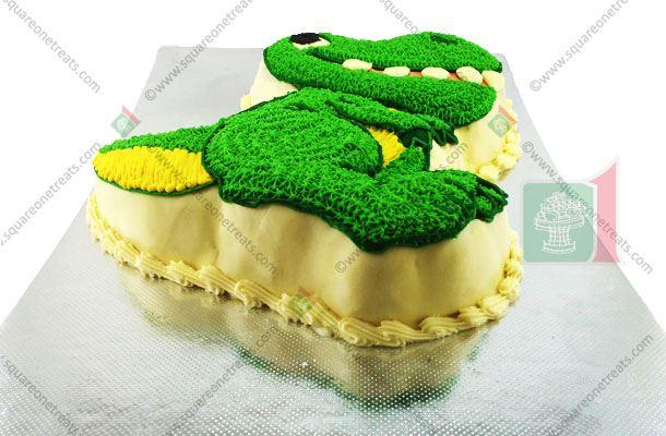 Dinosaur Cake Square One Homemade Treats