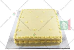 Picture of Eggless Vanilla Cake Iced