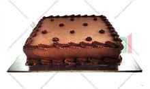 Picture of Eggless Chocolate Cake Iced 500g