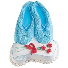 Picture of Ballet Slippers Eggless Vanilla Cake