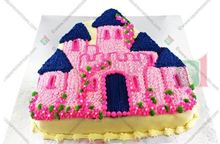 Picture of Enchanted Castle Eggless Chocolate Cake