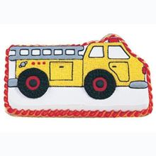 Picture of Fire Truck Eggless Chocolate Cake