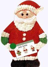 Picture of Jolly Santa Eggless Vanilla Cake