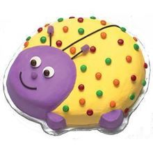 Picture of Ladybug Eggless Vanilla Cake