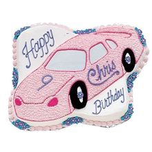 Picture of Race Car Eggless Vanilla Cake