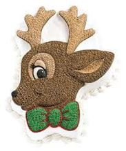 Picture of Rudy Reindeer Eggless Chocolate Cake