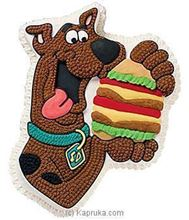 Picture of Scooby Doo With Burger Eggless Vanilla Cake