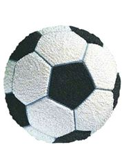 Picture of Soccer Ball Eggless Chocolate Cake