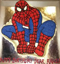 Picture of Spiderman New - Eggless Chocolate Cake