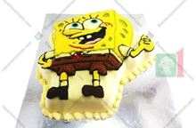 Picture of Sponge Bob Eggless Vanilla Cake