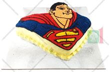 Picture of Superman Eggless Vanilla Cake