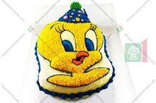 Picture of Tweety Eggless Vanilla Cake