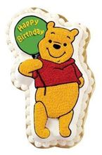 Picture of Winnie The Pooh Holding Balloon Eggless Chocolate Cake